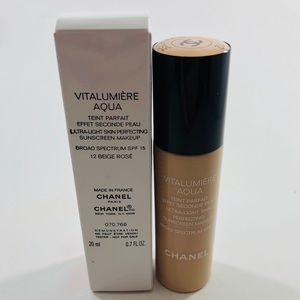 Chanel Vitalumiere Aqua Foundation 12 Beige Rose